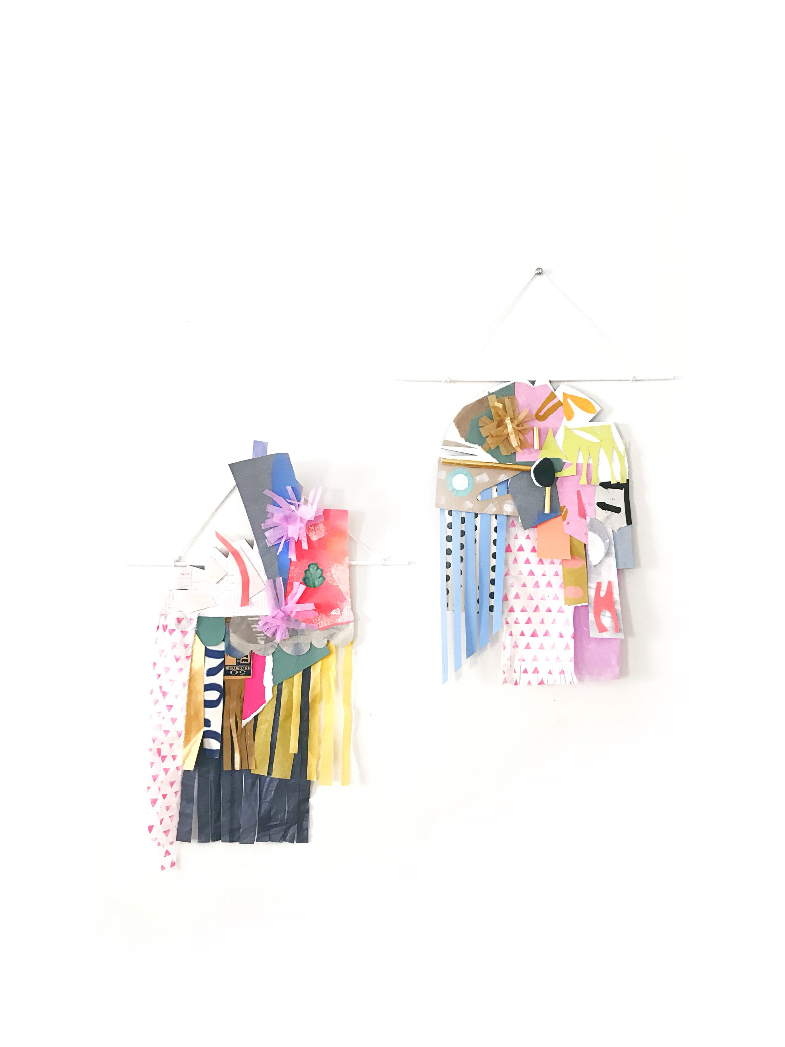 SCRAP PAPER COLLAGE WALL HANGING