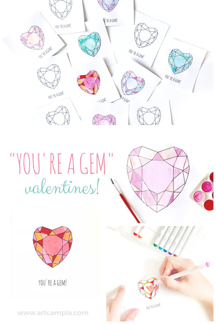 You're a Gem - Valentine Printable!