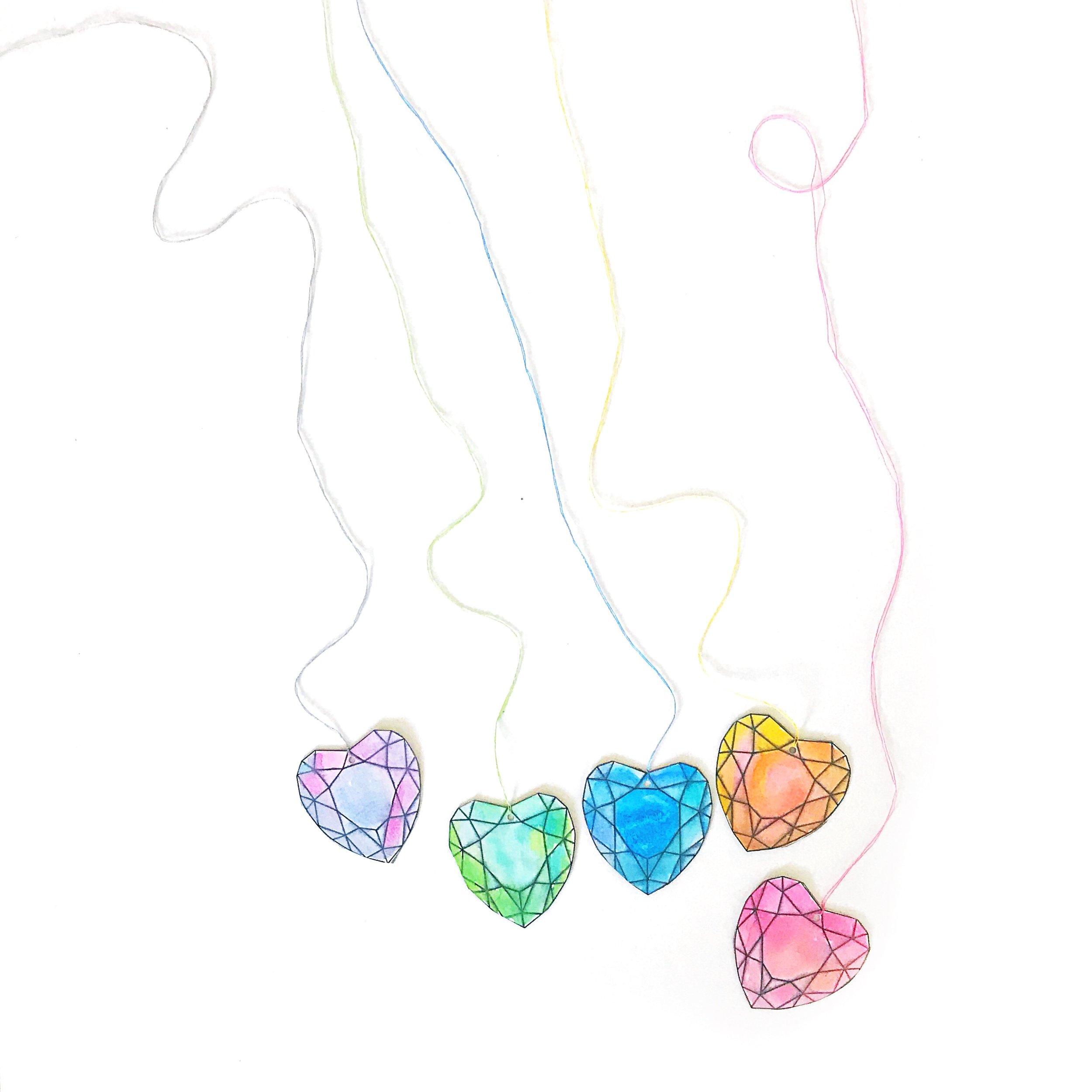 GEM HEART VALENTINE PRINTABLE