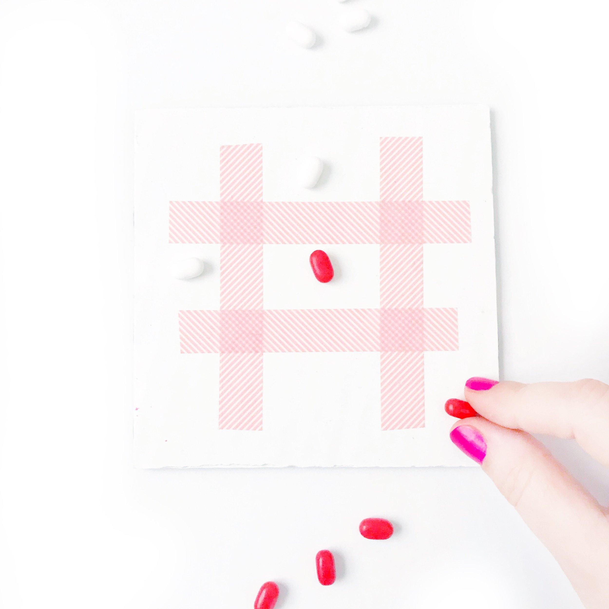 XOXO Tic Tac Toe Valentine
