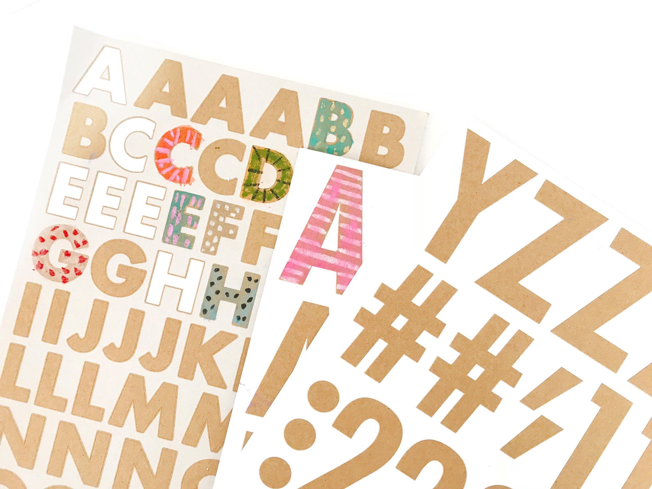 KIDS DIY: Artsy Alphabet!
