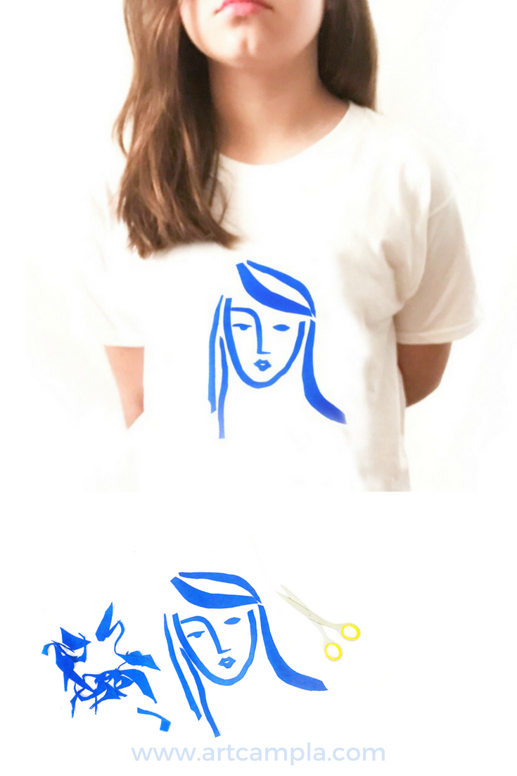 DIY: MATISSE INSPIRED CUT-OUT T-SHIRT
