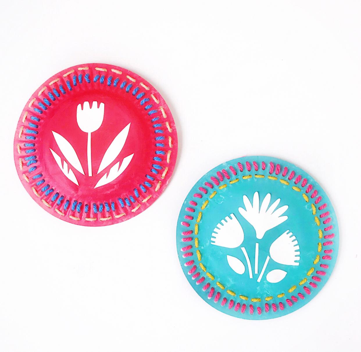 Folk Art Sewing Plate