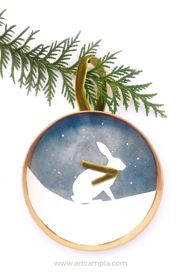 Snowy Woodland Shadowbox Ornament