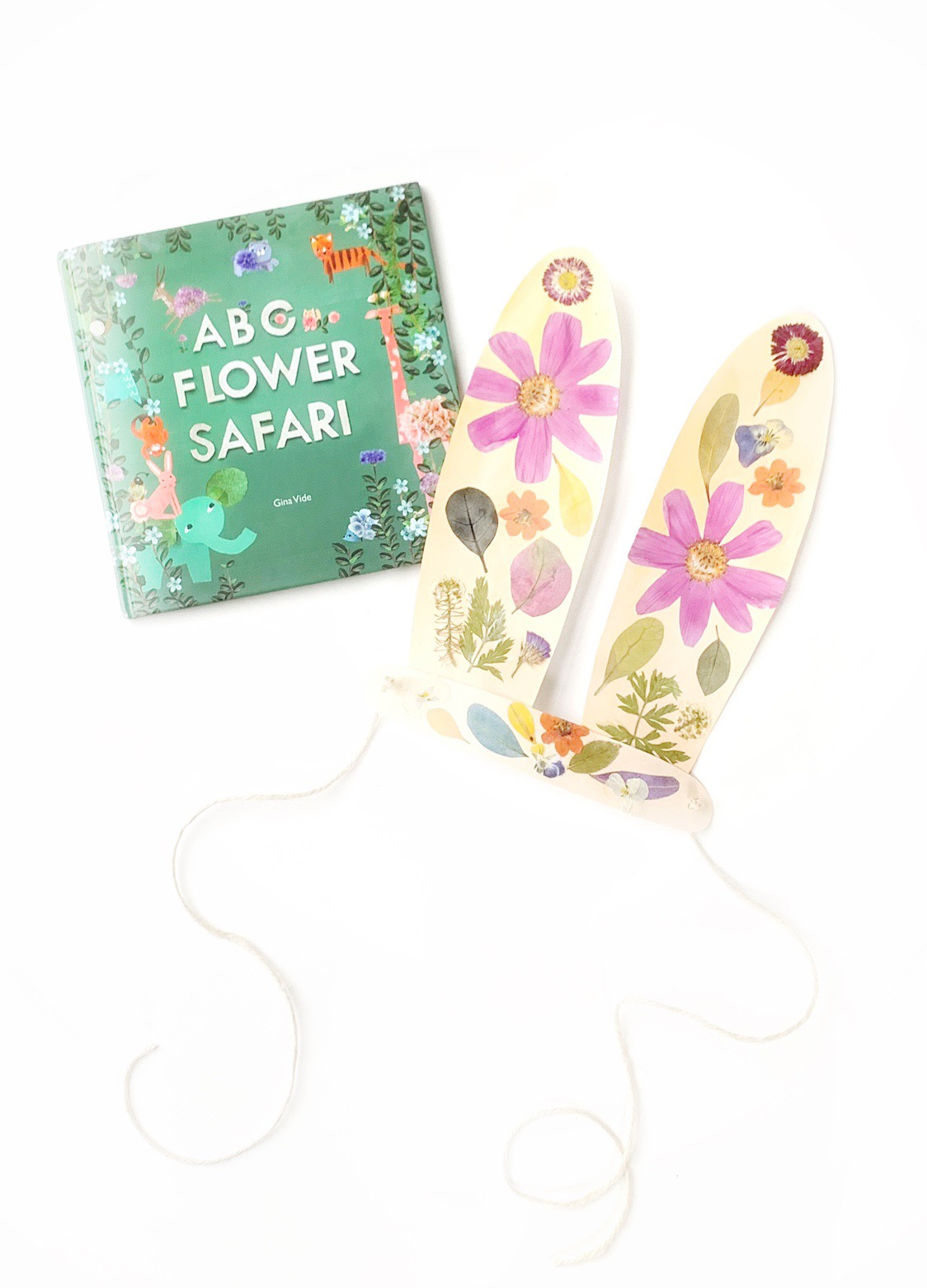 DIY Pressed Flower Bunny Ears