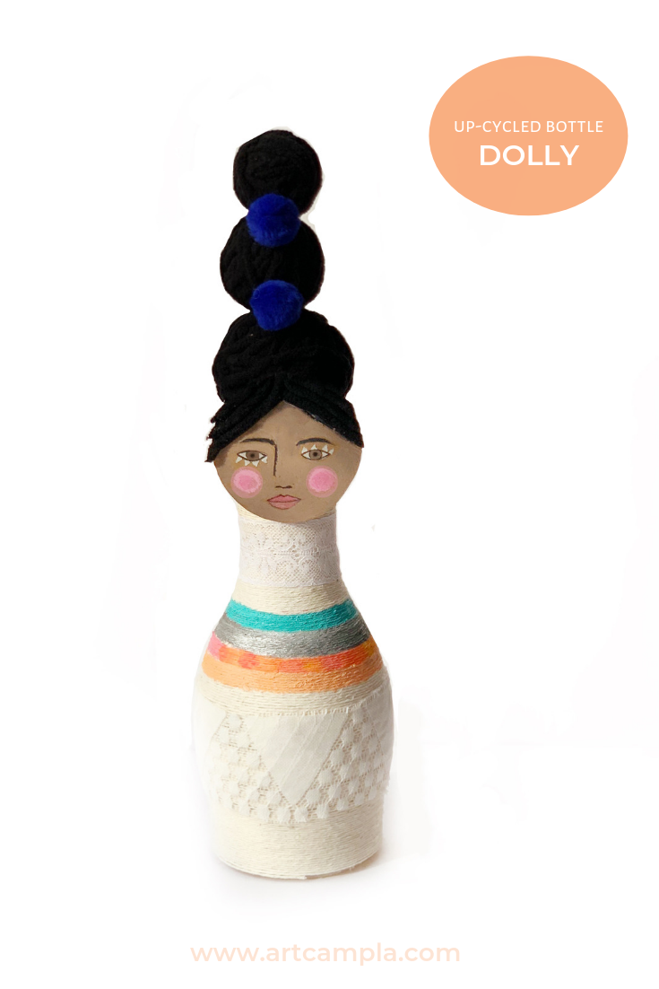 UP-CYCLED CRAFT: String Wrapped Bottle Doll