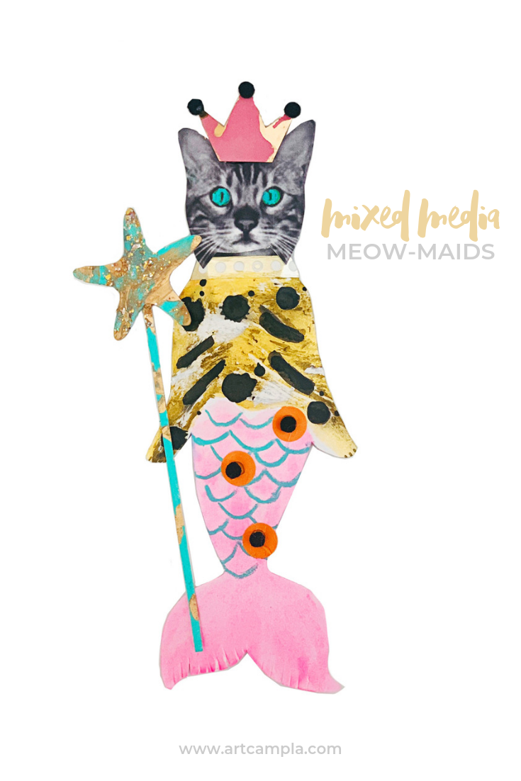 Mixed Media Meow-Maids