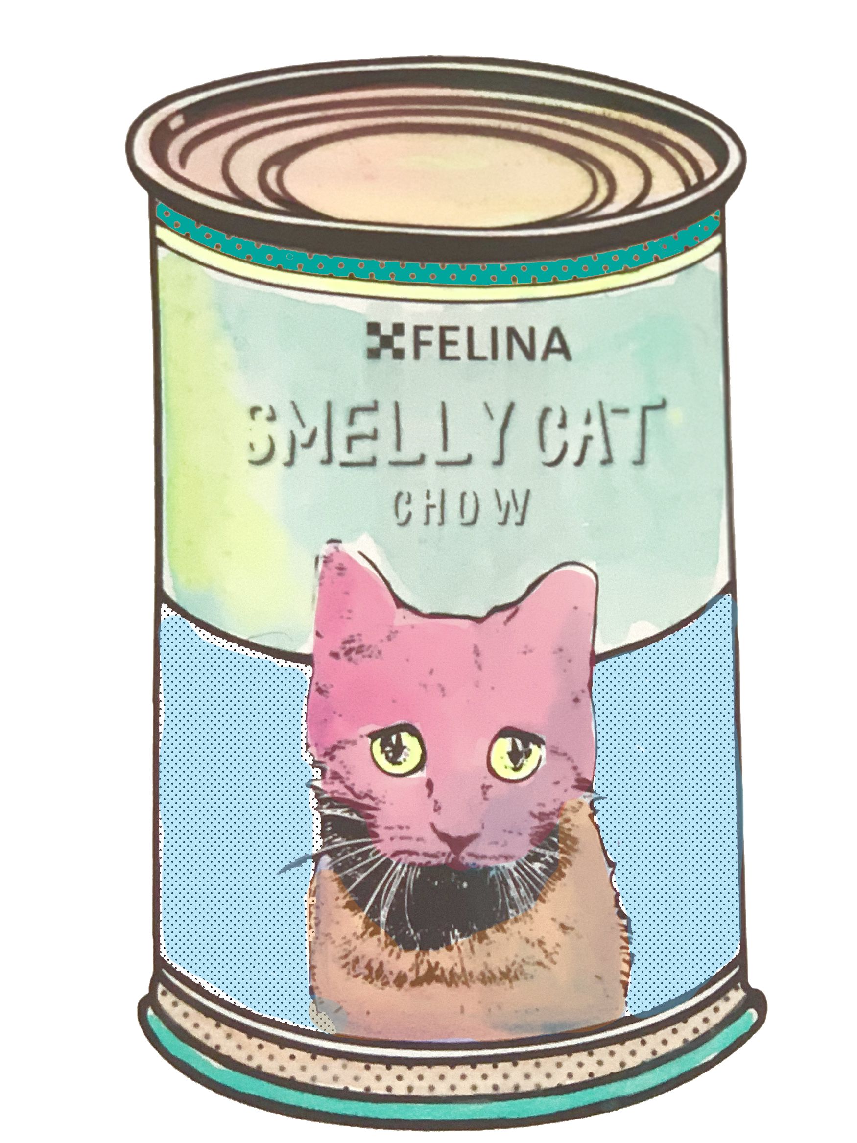 """Smelly Cat"" Pop Art Can Printable"