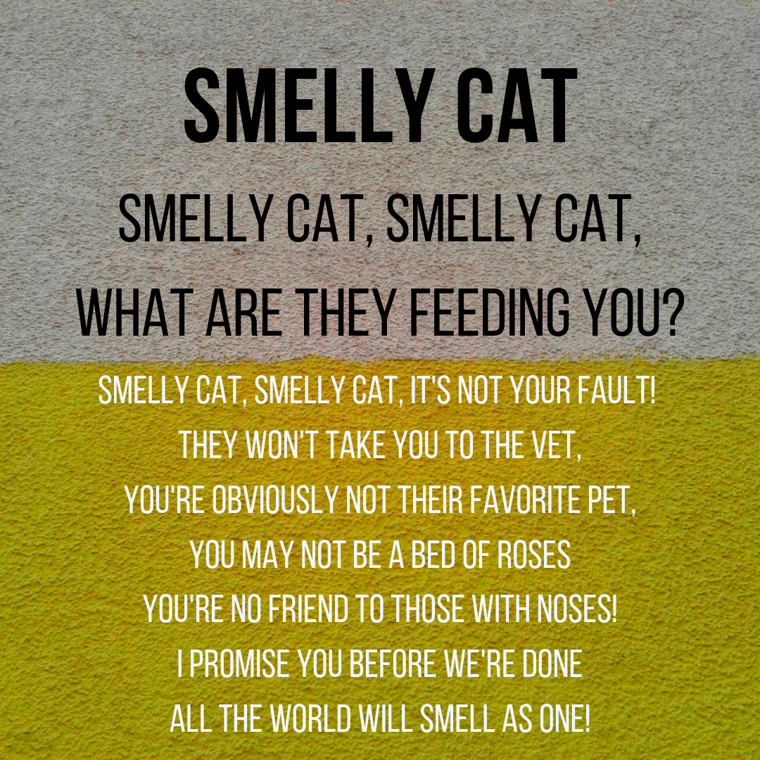 """SMELLY CAT"" LYRICS"