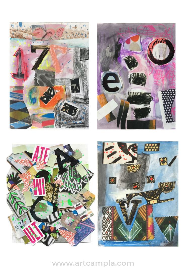 Robert Rauschenberg Inspired Mixed Media Collage