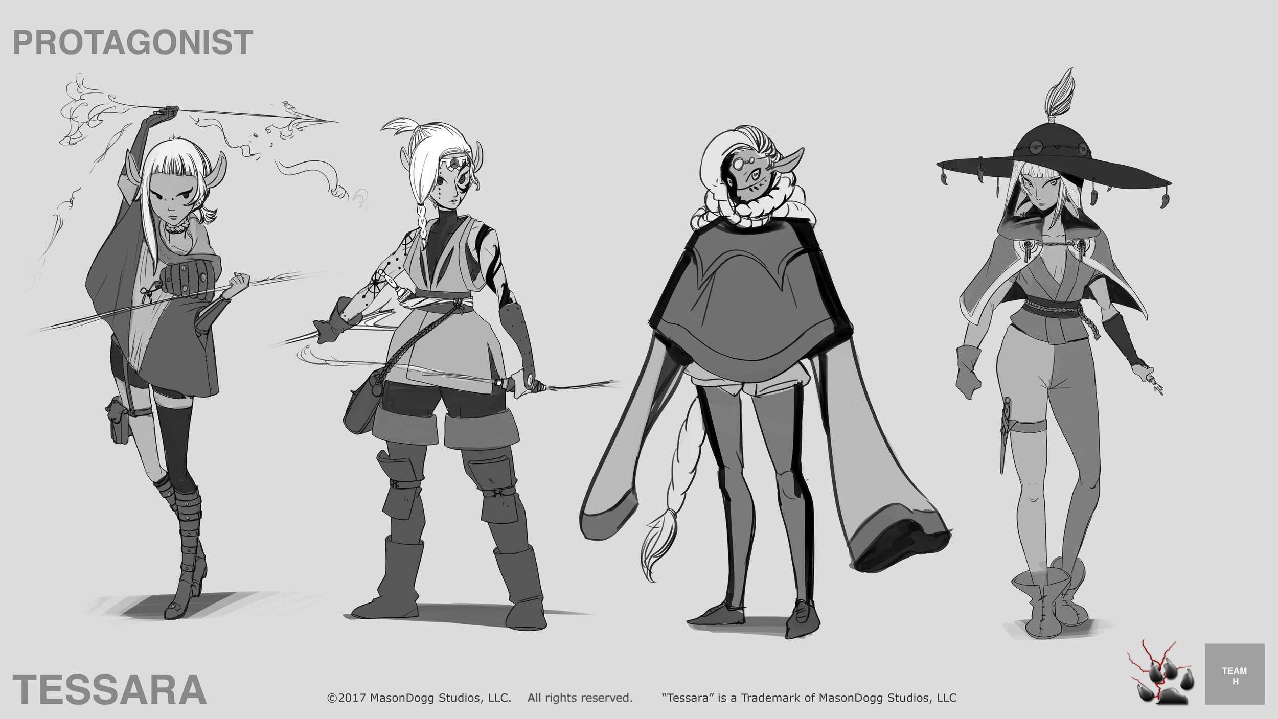 Early protagonist designs
