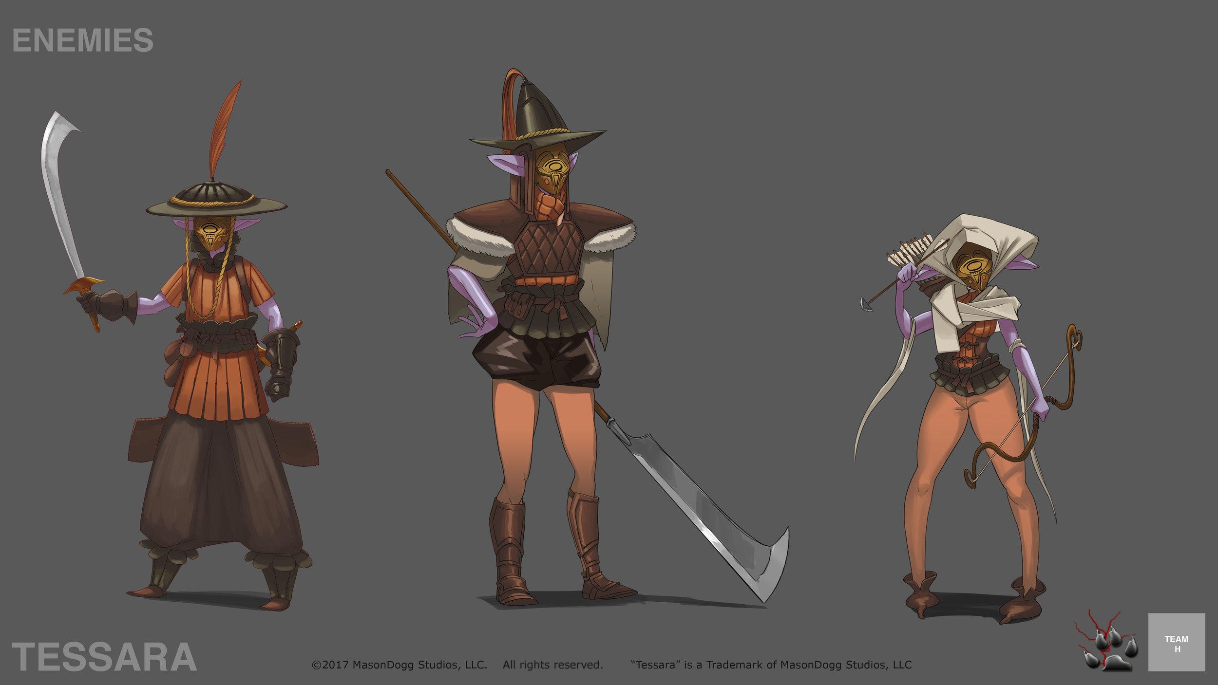 Enemy soldier designs