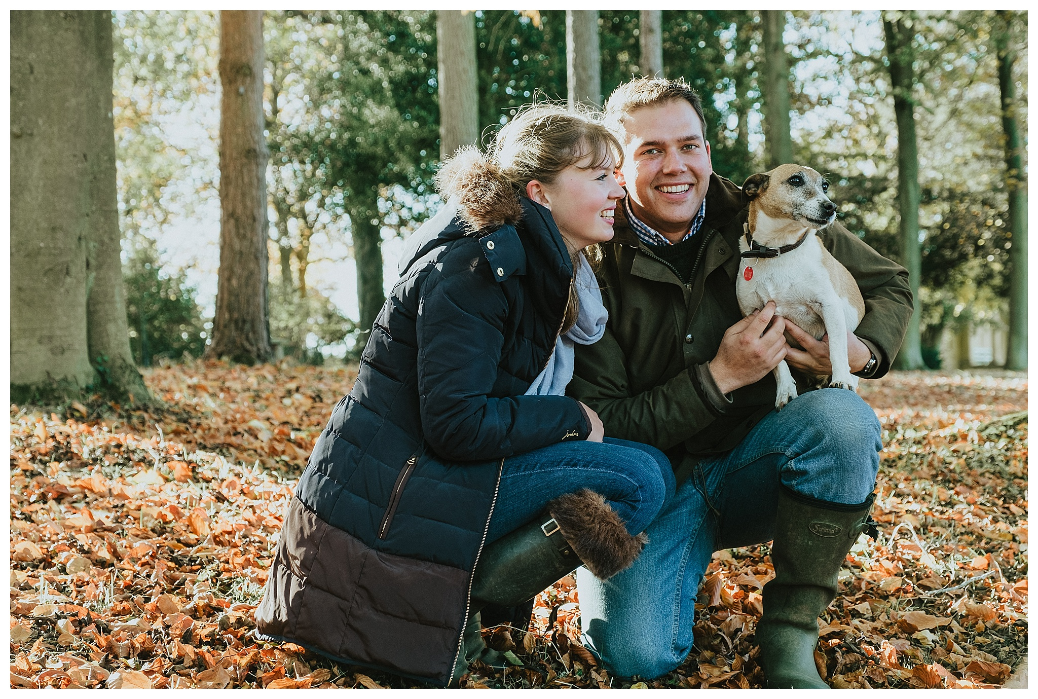 An engagement photo shoot at Stowe National Trust