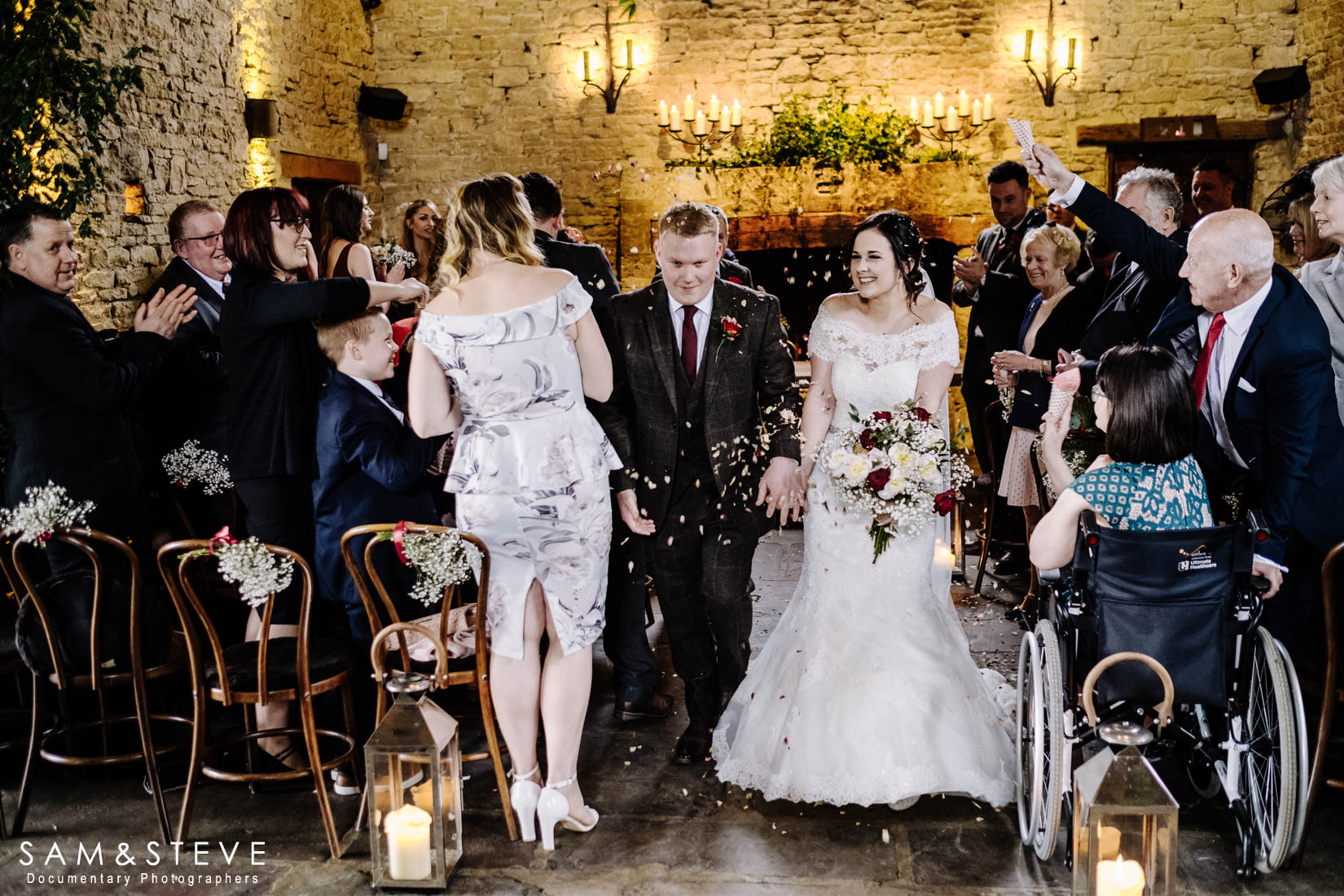 Cripps Barn Wedding Photography of Hayley and Thomas's wedding by Sam and Steve Photography