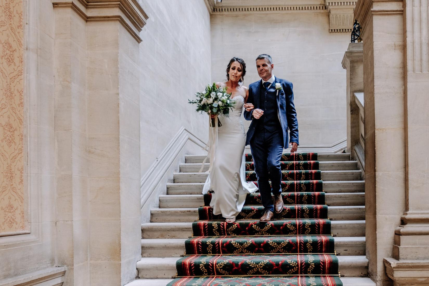 Heythrop Park wedding photography of Megan and Richard. Documentary style wedding photography by Sam and Steve Photography
