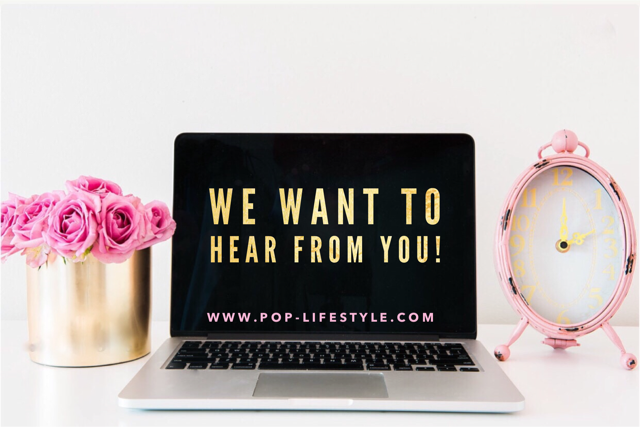 """You can also """"slide in our DM's""""via Instagram @_poplifestyle !!"""
