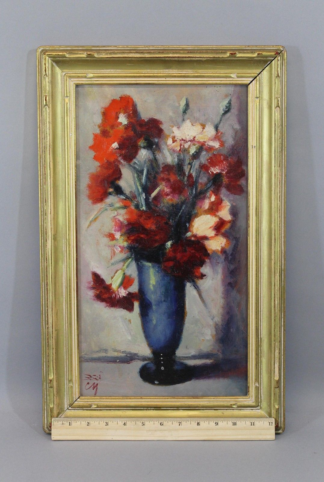 Prefer to roll the dice at auction? Here's a still life that's at $12.50 with one day left! Great original frame.