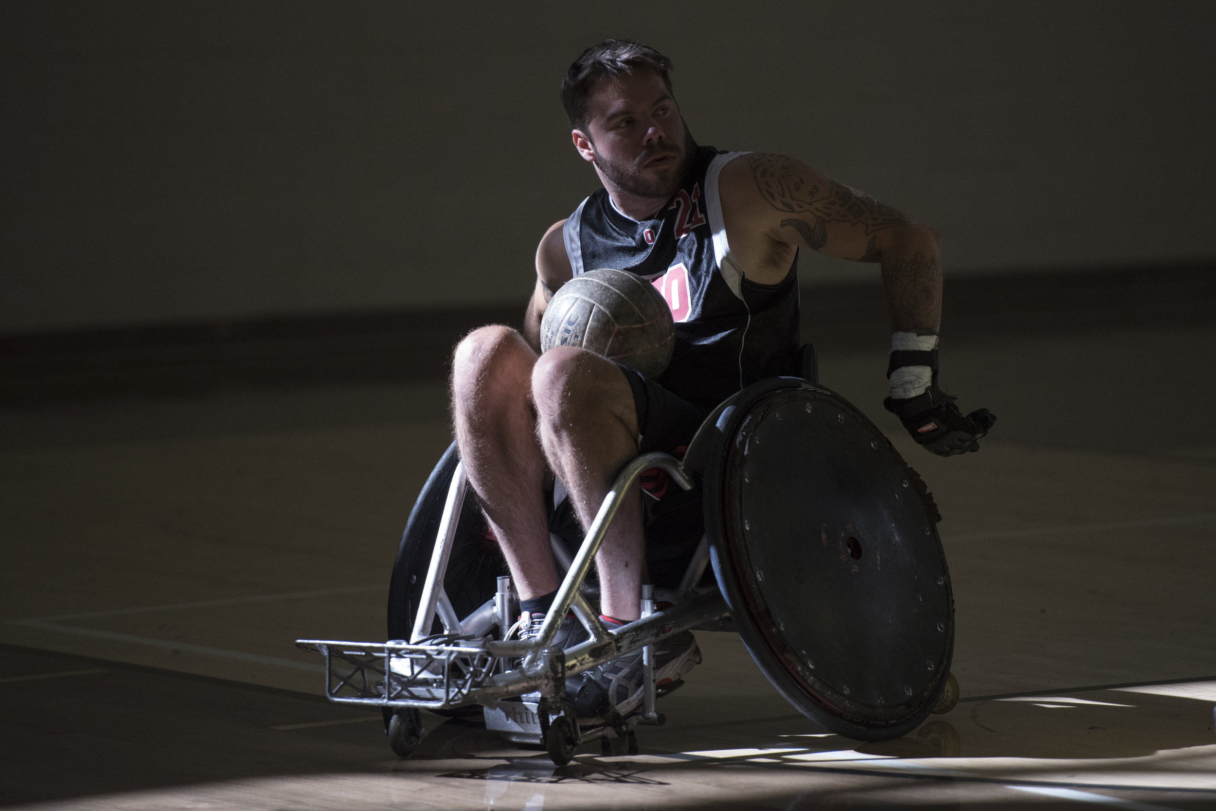 Ohio University College of Health Sciences and Professions hosts a Quad Rugby tournament with The Buckeye Blitz quad rugby team at Ping Center on Sept. 30, 2017.
