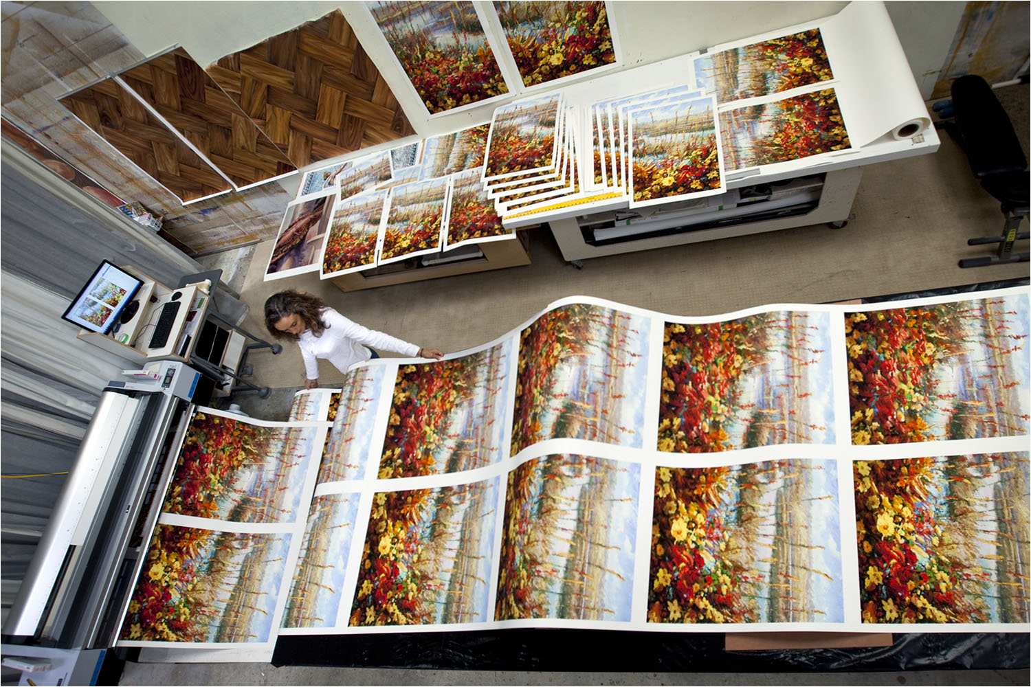 The highest quality fine art prints.  This is a limited edition produced with pigmented inks on archival fine art paper.