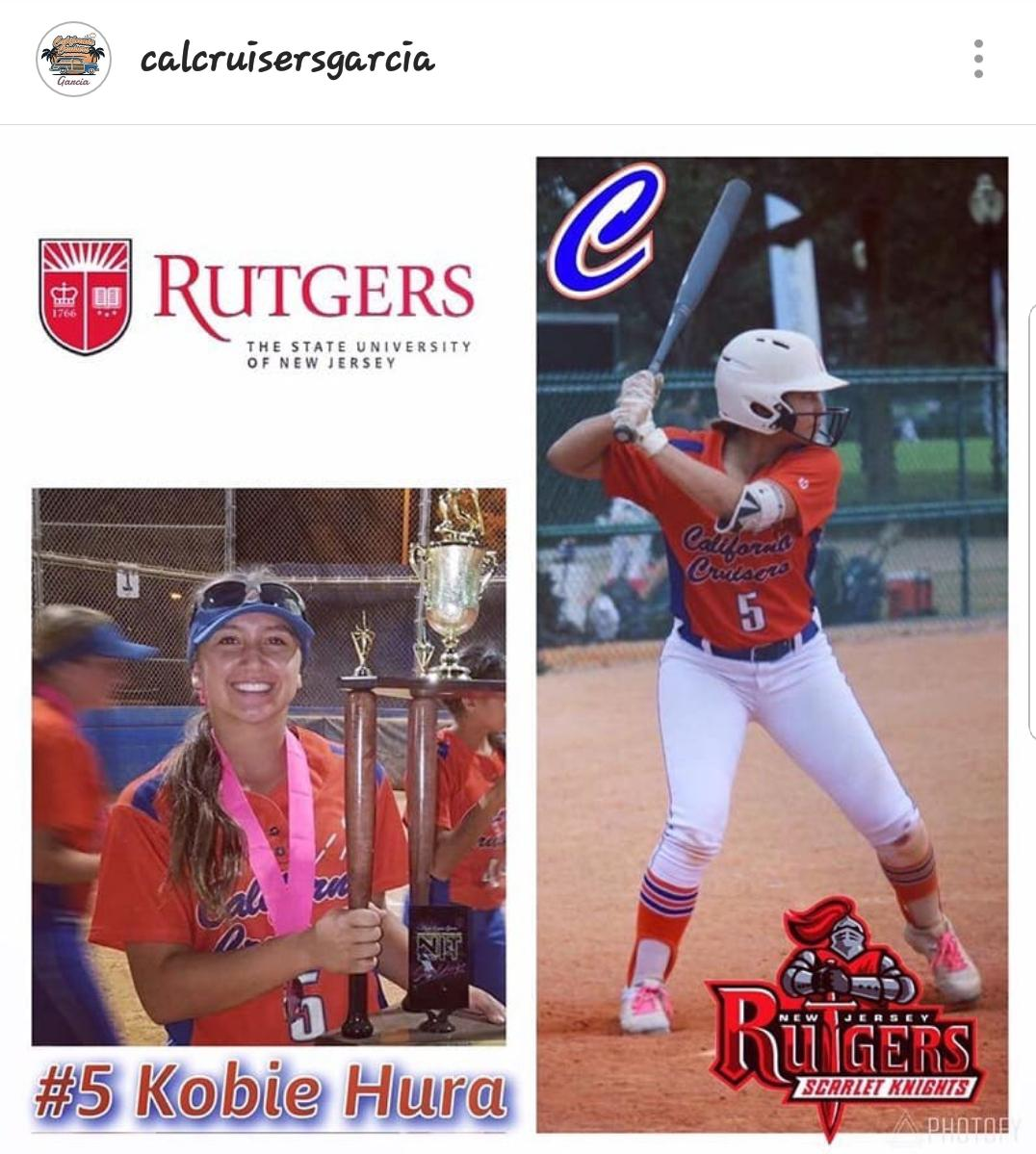 #5 KOBIE HURA   Highlight Video: Click on Image  Grad Year: 2020  Position(s): OF/SS  High School: Ayala  College: Rutgers