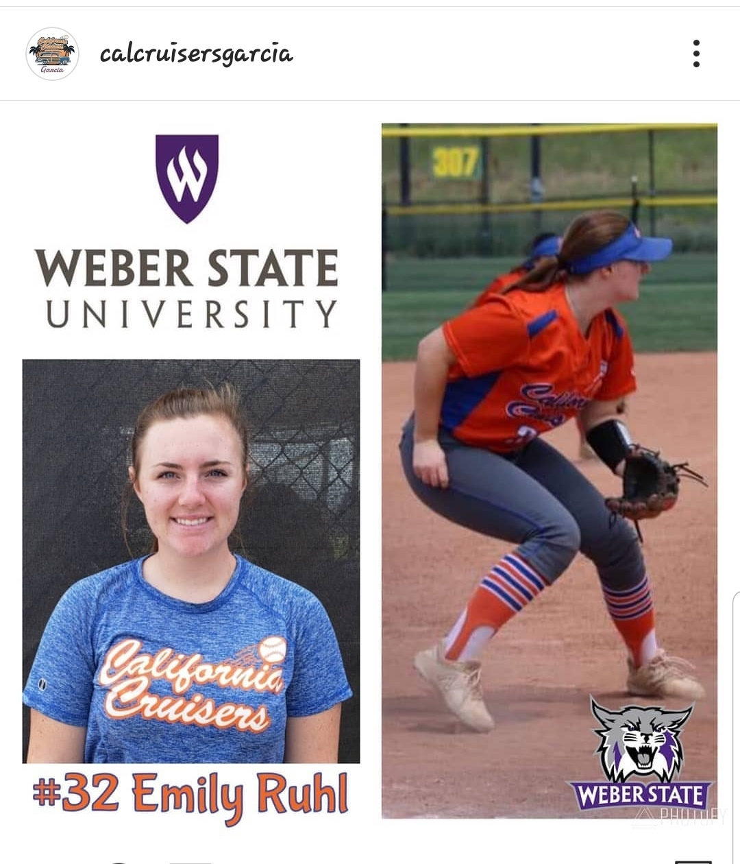 #32 EMILY RUHL   Highlight Video: Coming Soon  Grad Year: 2020  Position(s): 3B  B/T: R/R  College: Weber