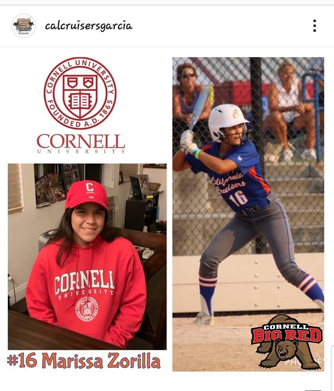 #16 MARISSA ZORILLA   Highlight Video: Click on Image  Grad Year: 2020  Position(s): 2B/OF  High School: Ayala  College: Cornell