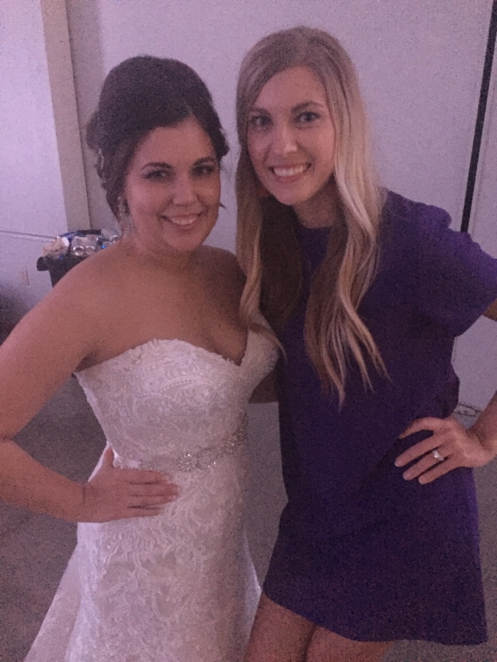 With the beautiful bride, Makenzie