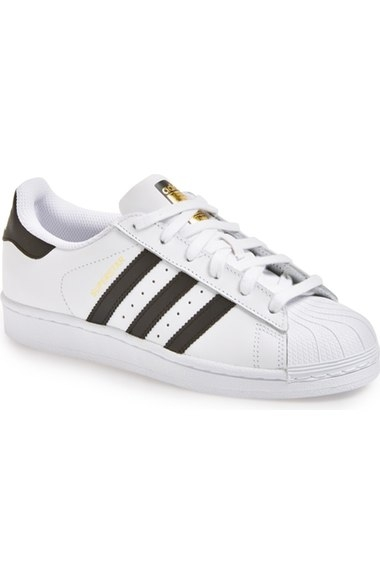 Adidas Superstars  here  (I had this in royal blue in middle school and was obsessed with them! So glad they are back!)