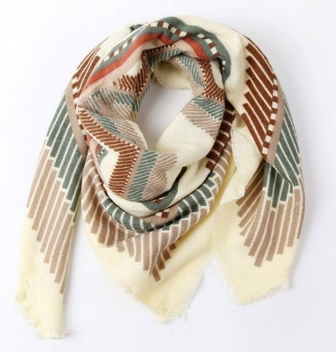 "Ily Mix ""Colorful Geometric Blanket Scarf""  here"
