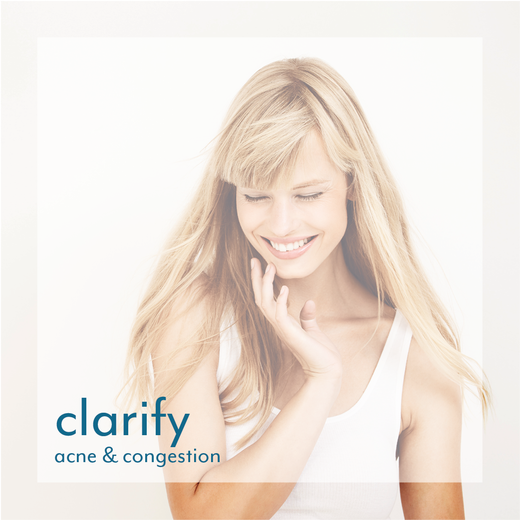 clarify acne skin with reveal skin and body