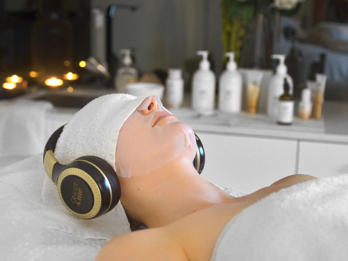 meditation during a facial at reveal skin and body