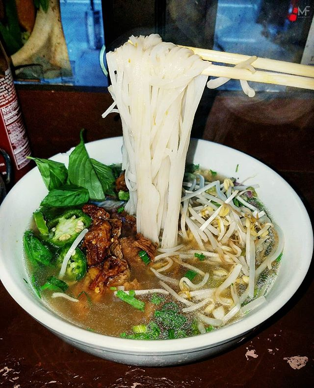 Halal Vietnamese pho exists people. It's vegan but it's good. The broth is made of herbs rather than the standard pork bones. It's got some surprisingly sweet notes to it. It will clean up your sinuses on your sickest days. $9 *not a halal establishment*