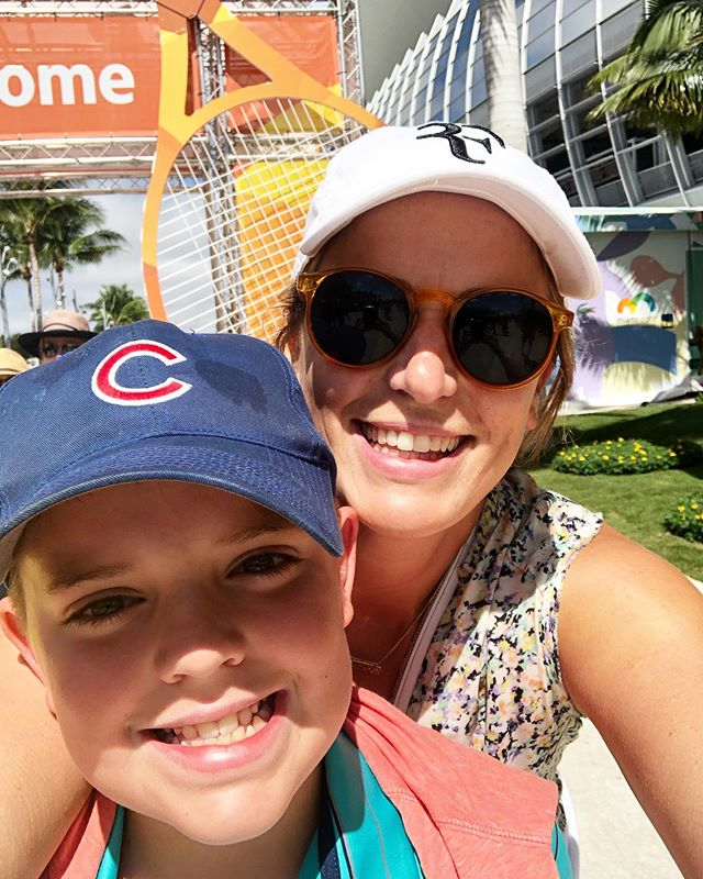 Playing hookie with my favorite guy at my favorite tennis tourney 🎾❤️ #miamiopen