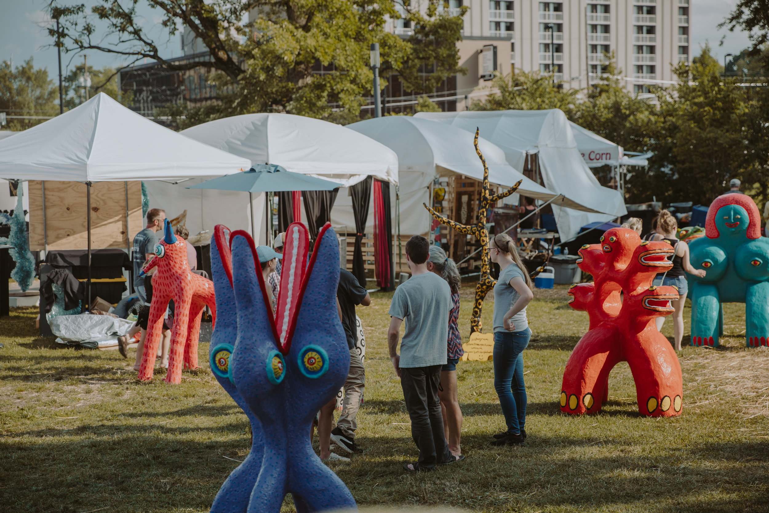 2018 public art at American Artisan Festival
