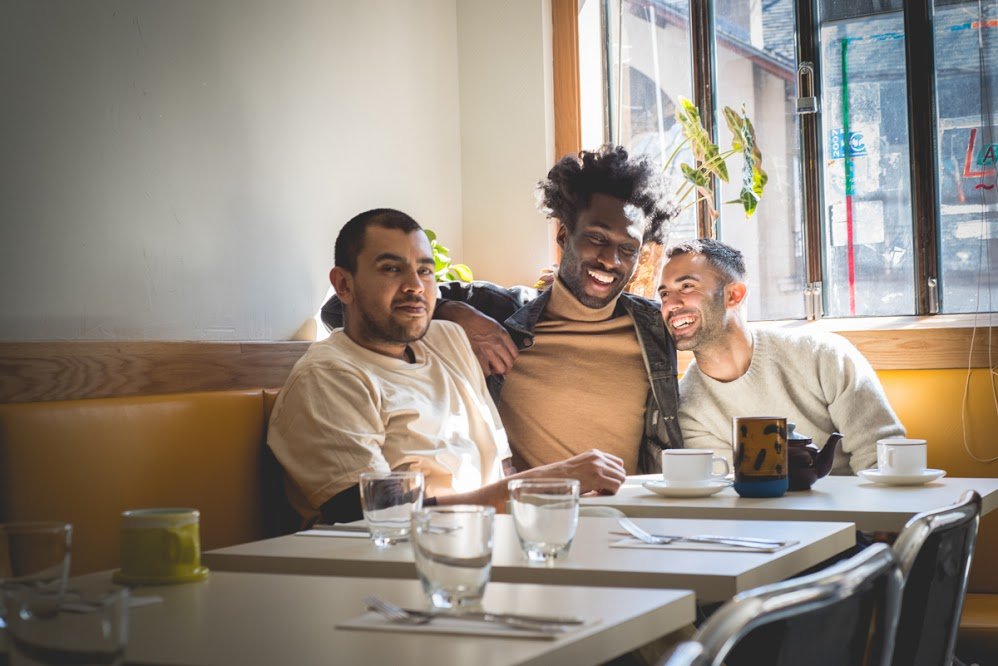 Gerardo Gonzalez, Devonn Francis, and Andy Baraghani at Lalito in Chinatown, New York City.