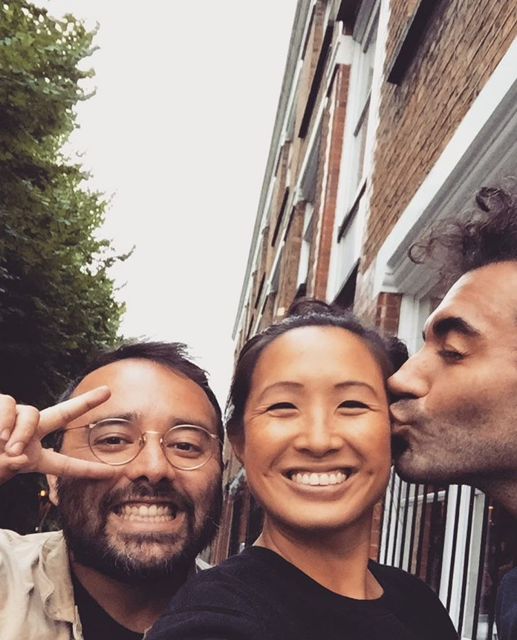 Billy Smith (left) and Pam Yung (middle) Ali Altinsoy (right, kissing)