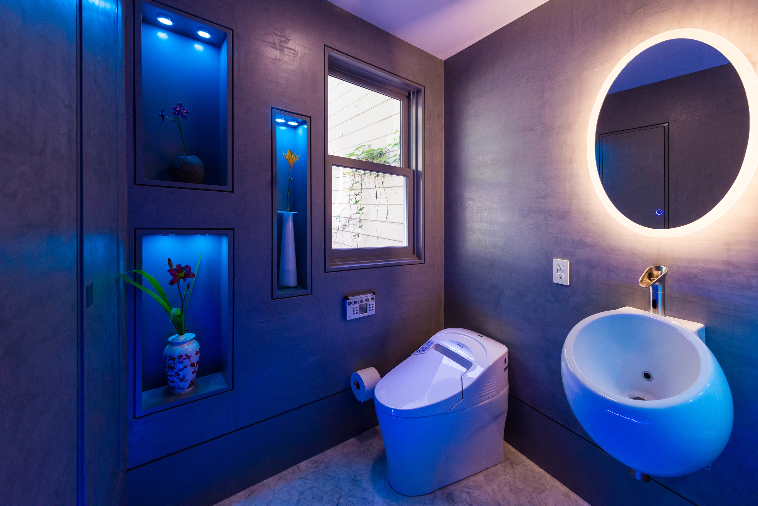 bathroom and illumination Design by david millar.
