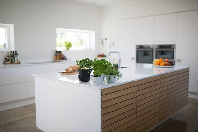 Kitchen Inspiration. #kitchen #home #kitchenisland #nouppercabinets #modern