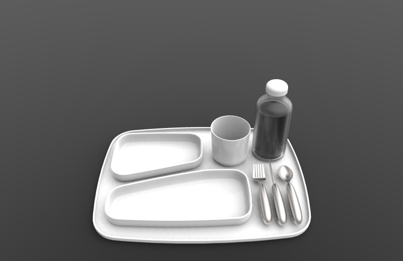 tray & utensil renderings