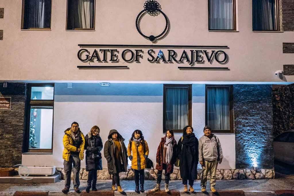 Gate Of Sarajevo (tempat menginap kami malam pertama di Sarajevo)