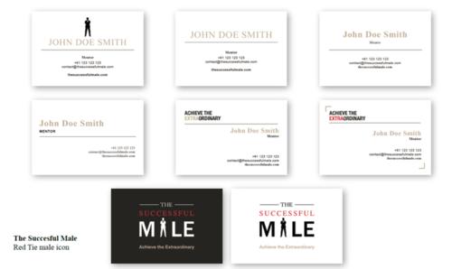TSM Mentor Business Card Gallery - Gold Foil Options