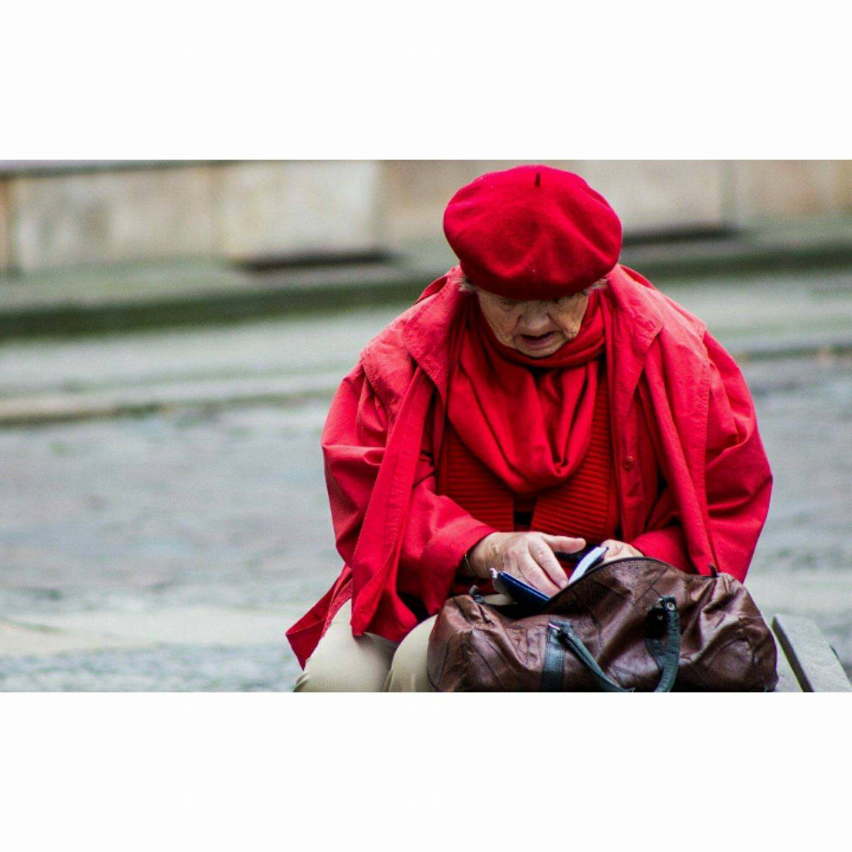 Woman in red, Berlin - October 2016