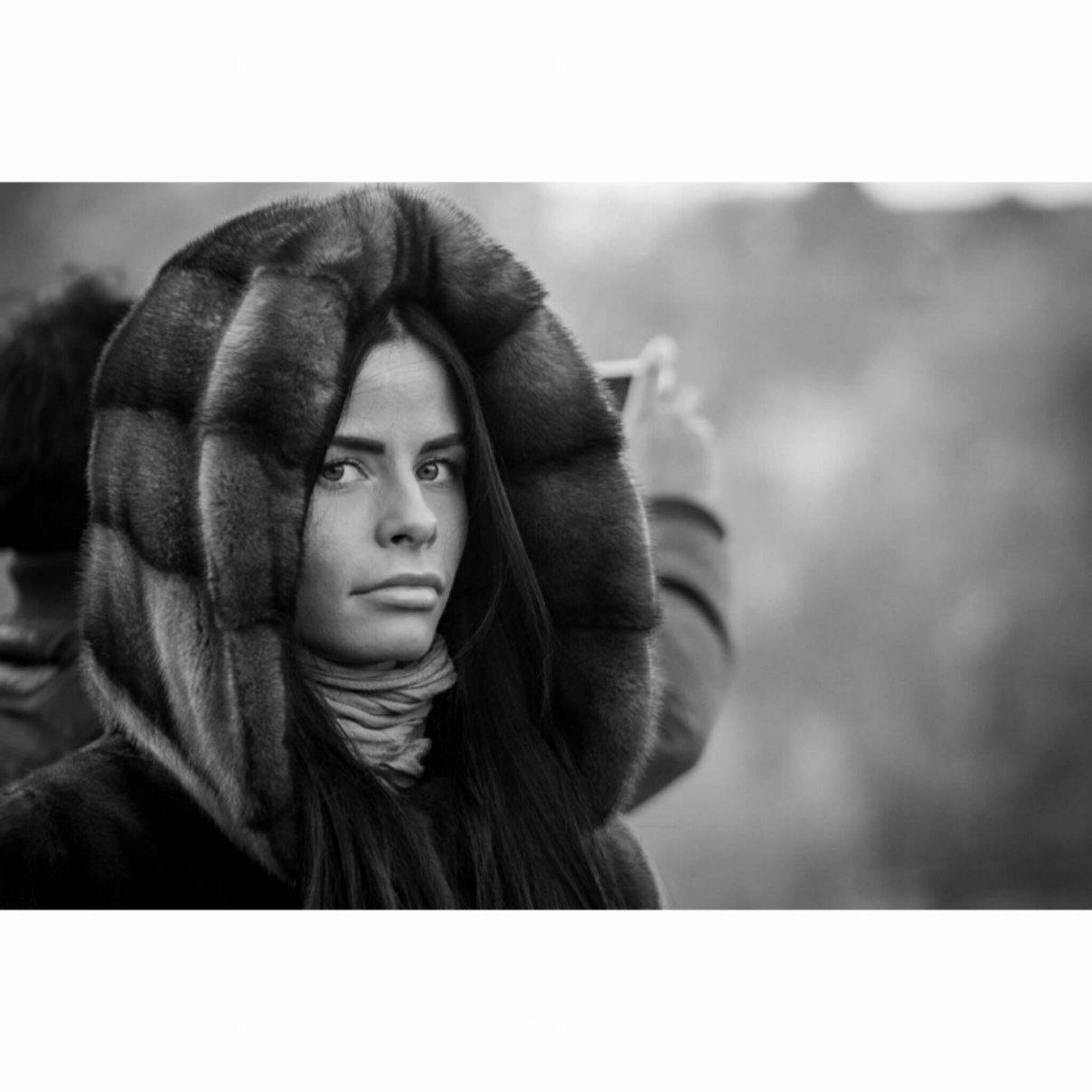 Girl in fur coat, Prague - November 2016