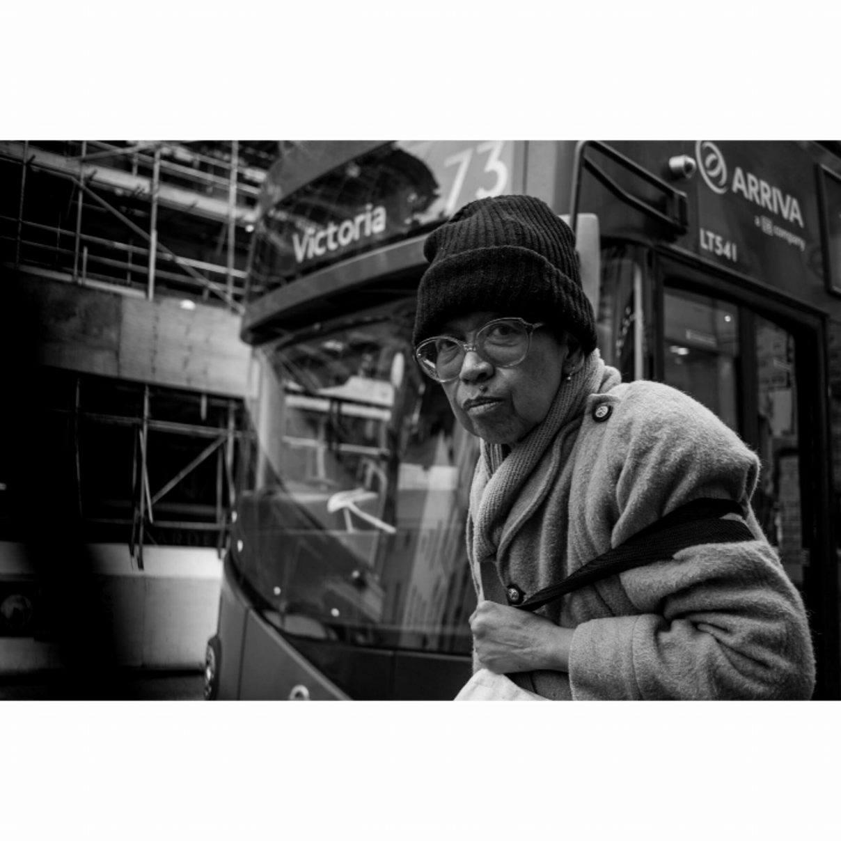 Portrait of old lady, London - January 2017