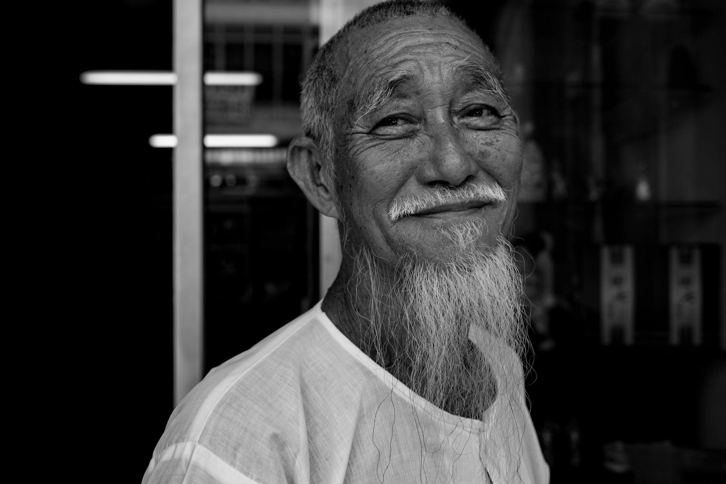 Old man, Penang - December 2017