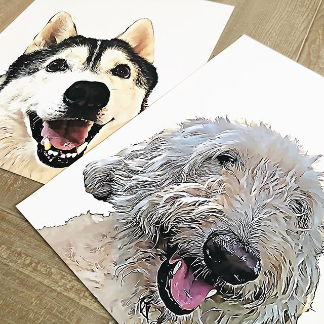 These guys are big—16x20—and will look so good on the wall! #statementpiece #petportrait