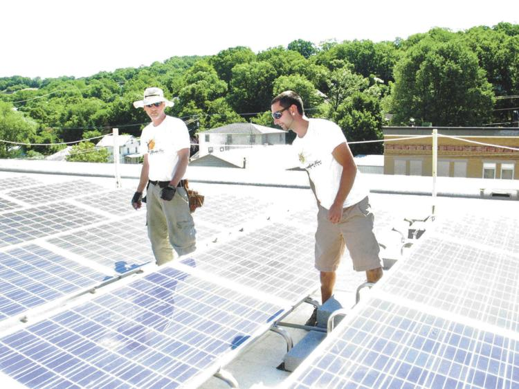 Solar Panels are installed on a Morgan County roof. Scott Rogers, Mayor of Charles Town, has come out in support of third-party power purchase agreements, and he is advocating for the 2019 state legislature to legalize their use. Journal file photo
