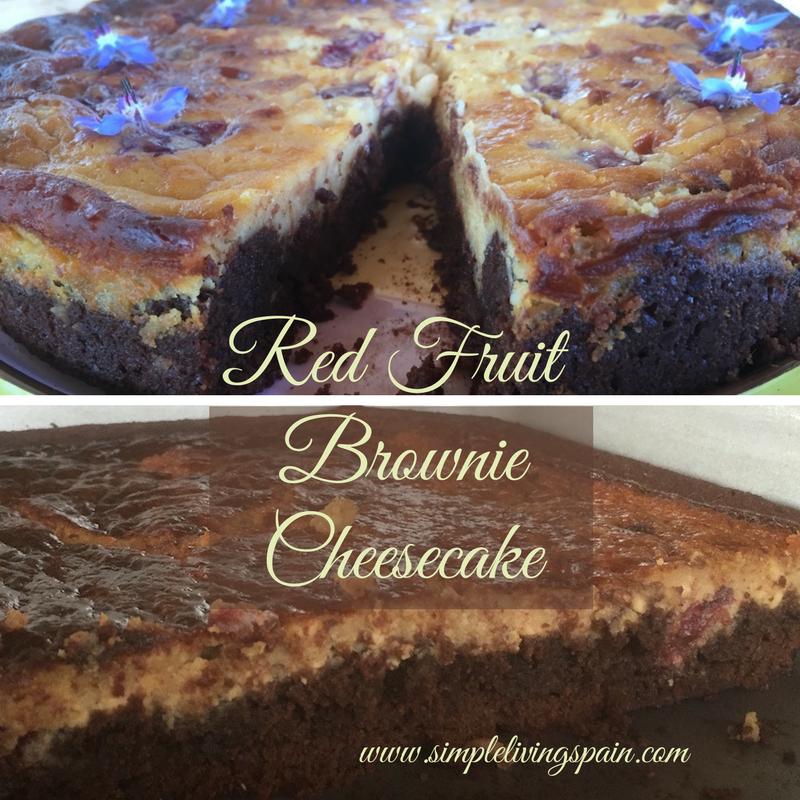 red fruit cheesecake brownie simplelivingspain