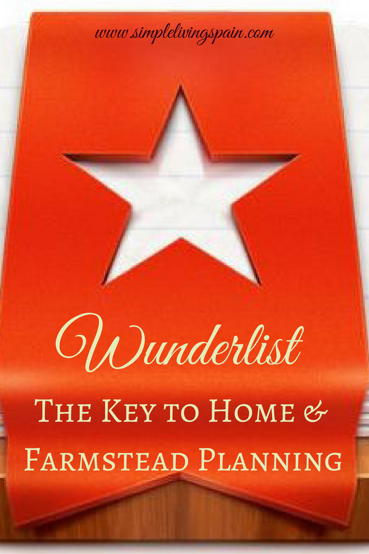 Wunderlist at home and on the farmstead | Simple Living in Spain