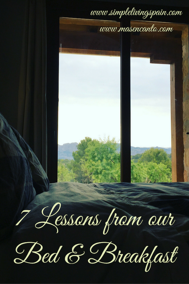 """Lessons from a """"farm stay"""" bed & breakfast  